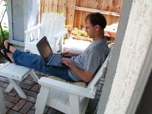 Eric on laptop